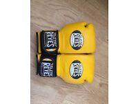 cleto reyes yellow 120z sparring/training glove