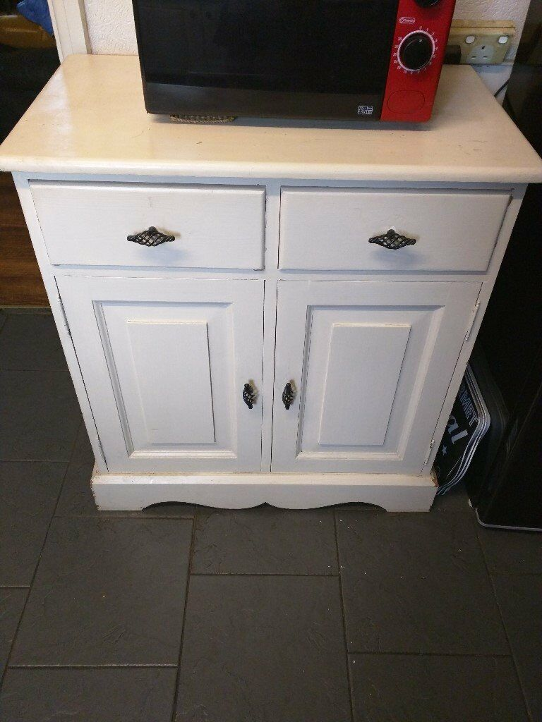 solid pine sideboard painted matt white