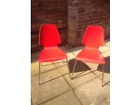 Pair of red chairs