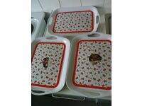 Set Of 3 Christmas Trays