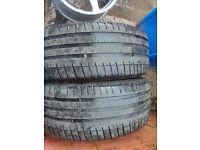 2 michelin 225/40 ZR 18 part worn tyres