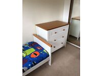 Mother care Summer Oak Cot Bed and Drawers