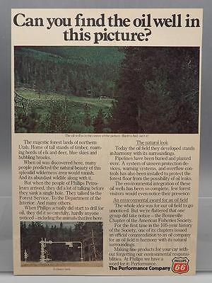 Vintage Magazine Ad Print Design Advertising Phillips 66 Oil