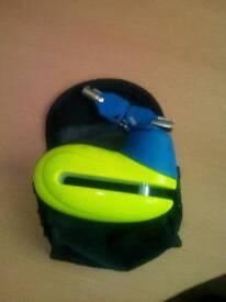 Motor bike disk lock