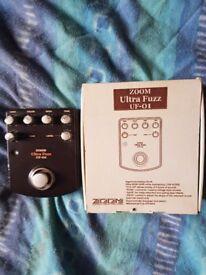 Zoom ultrafuzz guitar pedal.
