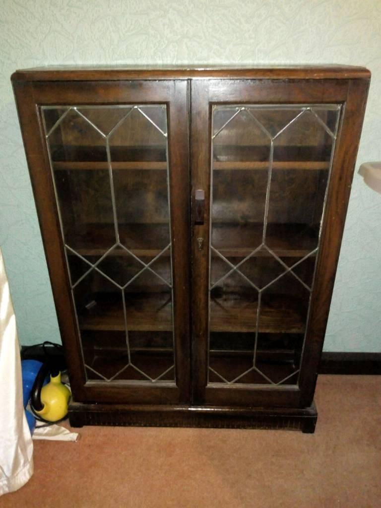 Leaded glass cabinet | in Newport | Gumtree