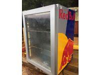 Red Bull drinks chiller countertop fridge with lighting