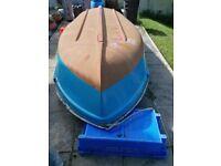 Fibreglass GRP Dinghy/Boat/Tender 9ft long