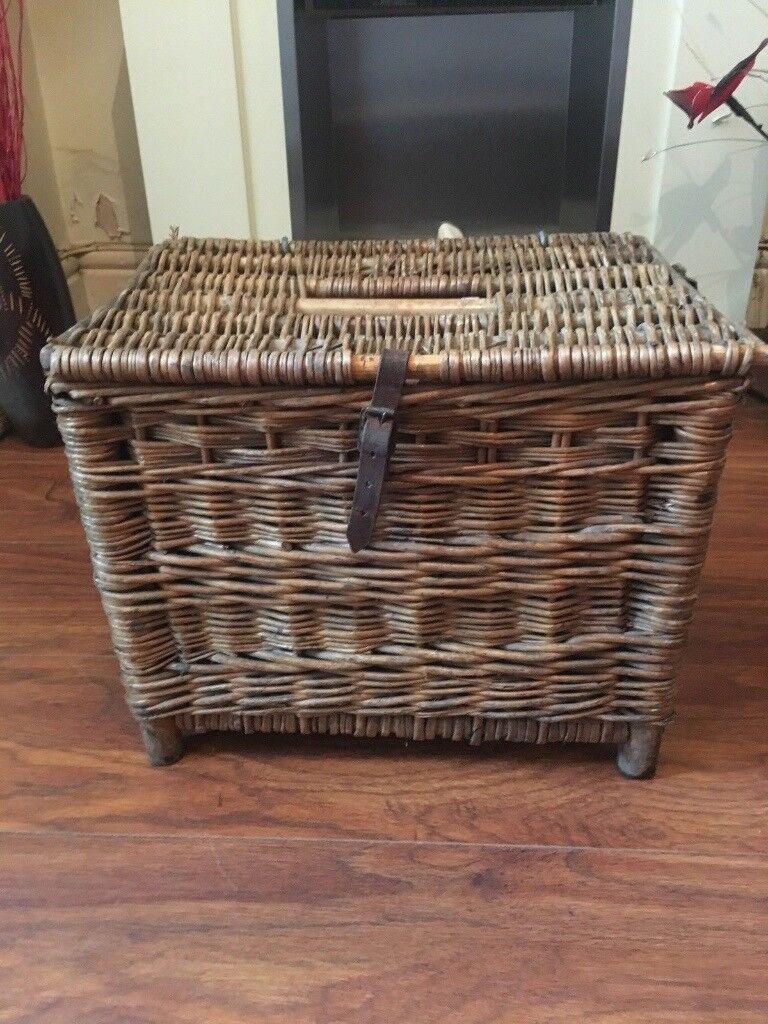 Original Vintage Wicker Fishing Basket / Retro Shop / Kitchen Decor ...