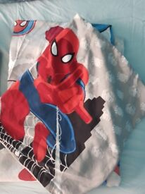 Spiderman single duvet cover and pillow case