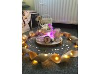 Wedding Accessories Bird Cages, Lanterns, Hessian, LED Lights, Table Decor