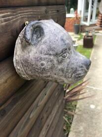 Staffy head garden wall fence plaque