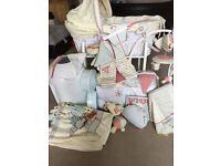 Baby crib, crib stand, cot bedding, cot mobile, nappy bin