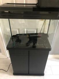 80 litre fish tank with stand/cupboard