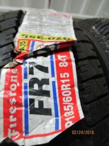 185/60R15 2 ONLY NEW FIRESTONE A/S TIRES
