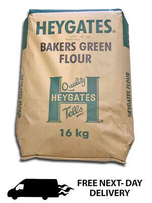 Strong White Bread Flour 16kg   Heygates Bakers Green Label + NEXT DAY DELIVERY