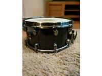 Mapex black panther (phatbob) snare drum + Case