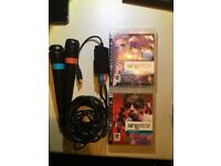 PlayStation 3 Singstar games and wired mics