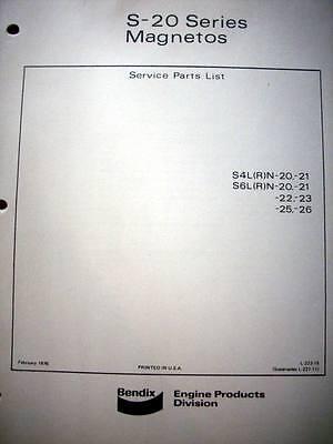 Bendix S-20 Magnetos Parts Manual S4L(R)N  &  S6L(R)N  series