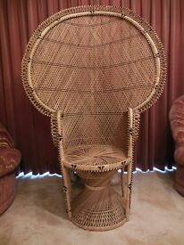 Beautiful Peacock Handwoven Wicker chair