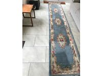 Rug brilliant condition hardly used & pine king size headboard free to collect
