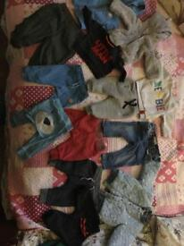 Bundle of clothes 0 till 6 baby boy