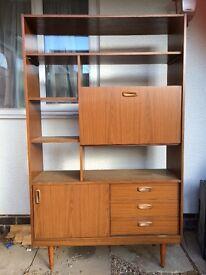 Vintage retro Schreiber teak furniture unit