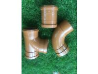Underground pipe fittings 110 mm.Elbow 45,90 degree