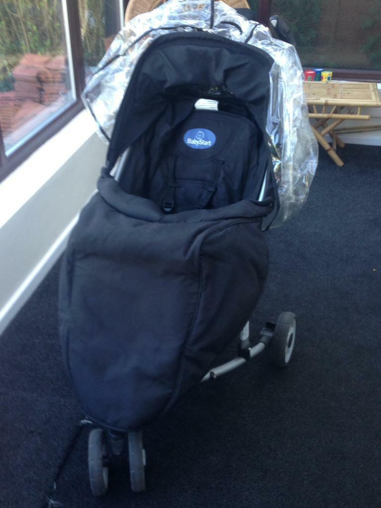 Babystart Pushchair With Foot Muff And Rain Cover Can