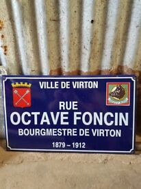 COLLECTABLE BELGIAN METAL SIGN