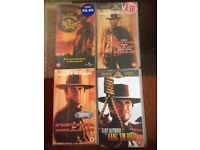 Collection of Clint Eastwood videos VHS