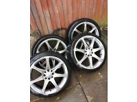 KC racing alloys 17 inch 4x100 4x108 ford Renault toyota nissan alloy wheel