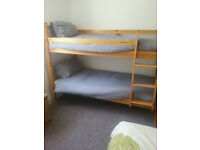 Solid Pine Bunk Beds, Mattresses, and Single Bedding