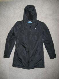 Kid's coat, really warm, (age 11/12) Trespass Waterproof and Windproof Hooded Jacket, Black