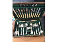 James Dixon & Sons 55pc Silver Cutlery Set