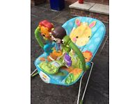 Fisher Price Bouncer chair and Mothercare car seat
