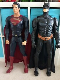Batman and Superman large figures
