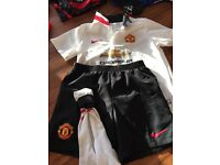 Football Man Utd away kit with name and number on shirt