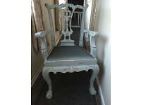 Large decorative shabby chic chair