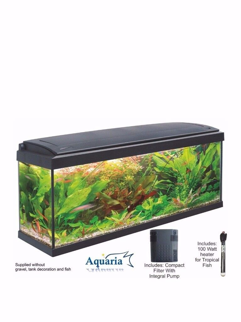 Lotus Aquaria Fish Tank Set 100 - 93ltrs including LED Lighting 100 Watt Heater RRP £299 littlewoods