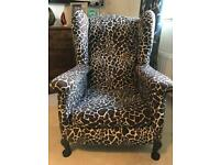Classic 'Giraffe' Armchair, Restored