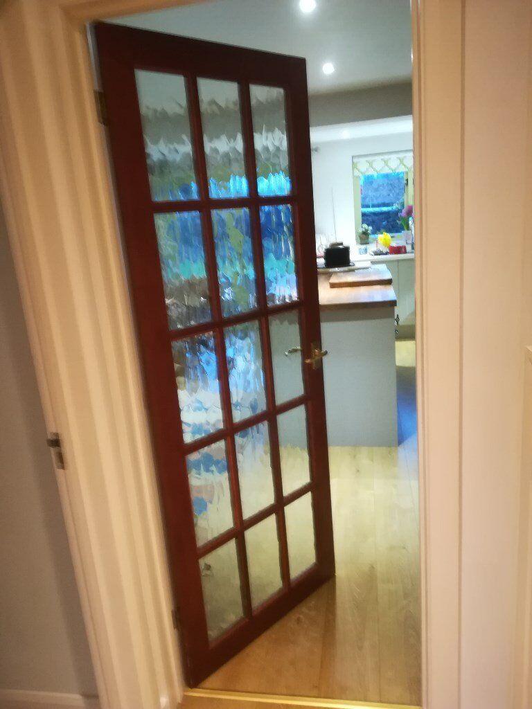 Pvc Door Interior Room Door From Zhejiang Awesome Door: 2 Teak Internal Doors , Glazed. One Sapele Door Painted