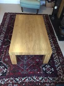Olive wood coffee table