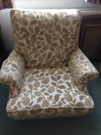Parker knoll 3 piece suite 3 seater settee 2 arm chairs one a recliner