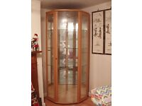FREE LARGE GLASS CABINET MADE OF BEECH WOOD