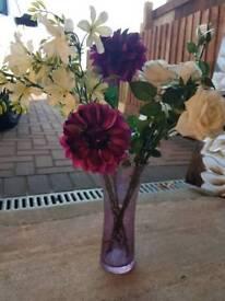 Purple Crackle Vase