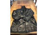 Unisex vintage style patch lamb skin leather jacket size xxl