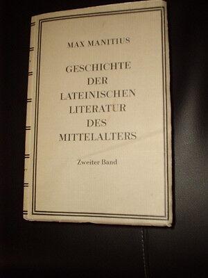 Geschichte der lateinischen Literatur des Mittelalters 2 Manitius ungeschnitten