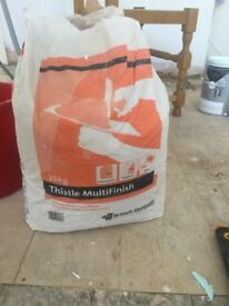 Almost Full Bag of Finish Coat Plaster