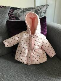 0-3 month baby girl jacket excellent condition